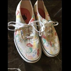 Rare ariel disney vans shoes